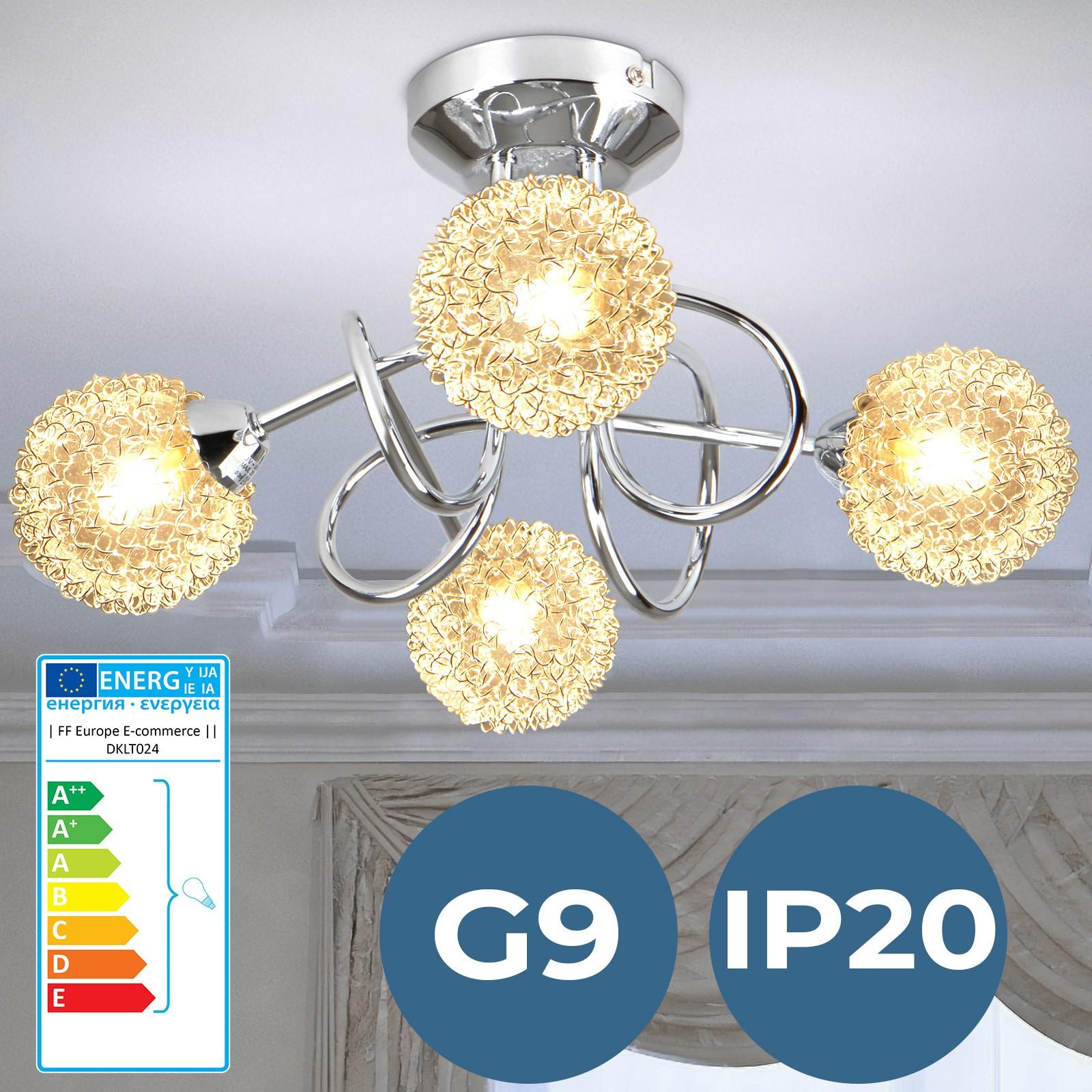 Details zu Deckenleuchte Deckenlampe Wohnzimmer Esszimmer Schlafzimmer  Kugel Lampe