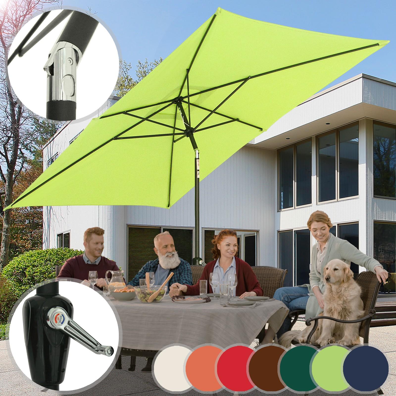 sonnenschirm 2x3m rechteckig balkonschirm marktschirm. Black Bedroom Furniture Sets. Home Design Ideas