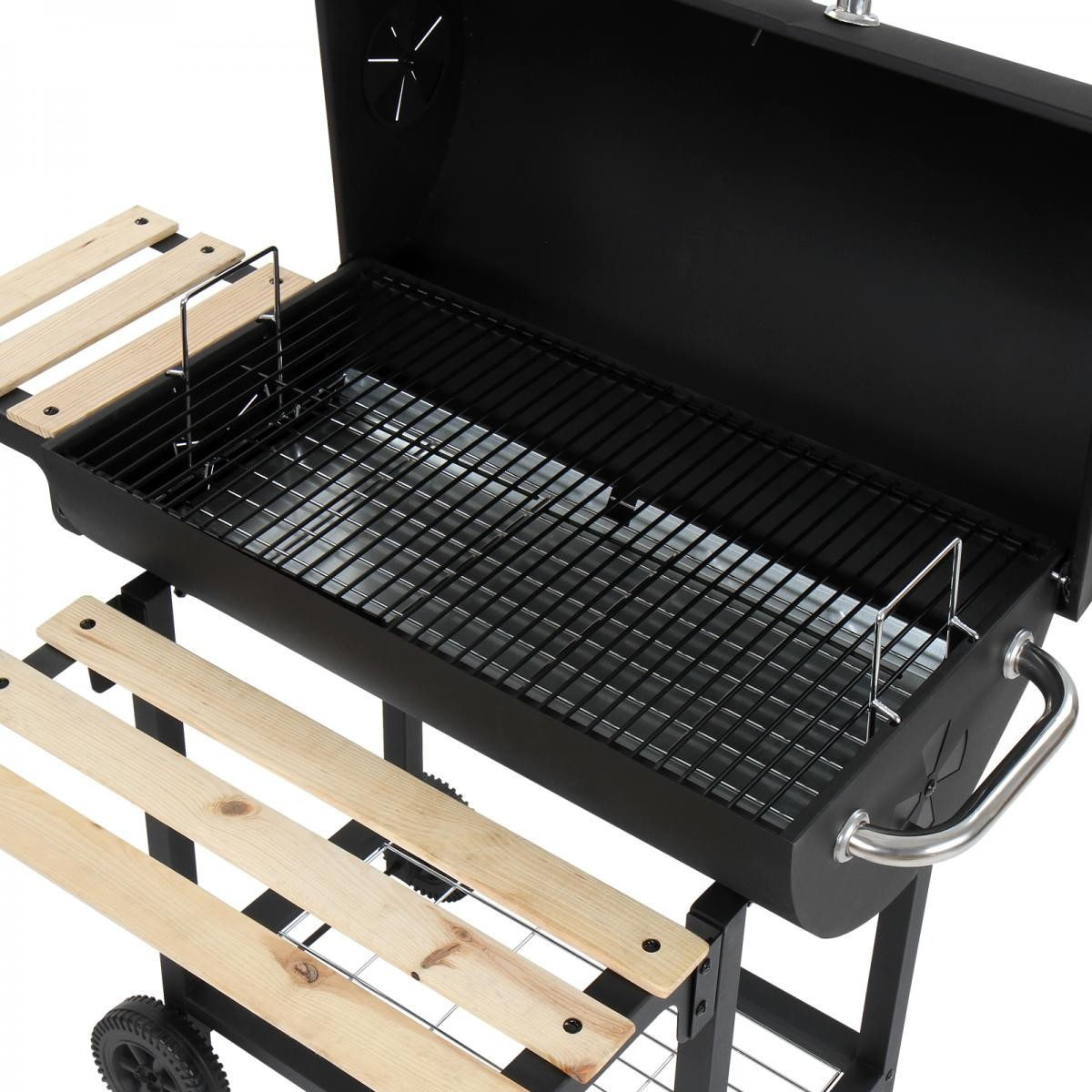 broil master bbq grillwagen holzkohle smoker grillrost. Black Bedroom Furniture Sets. Home Design Ideas