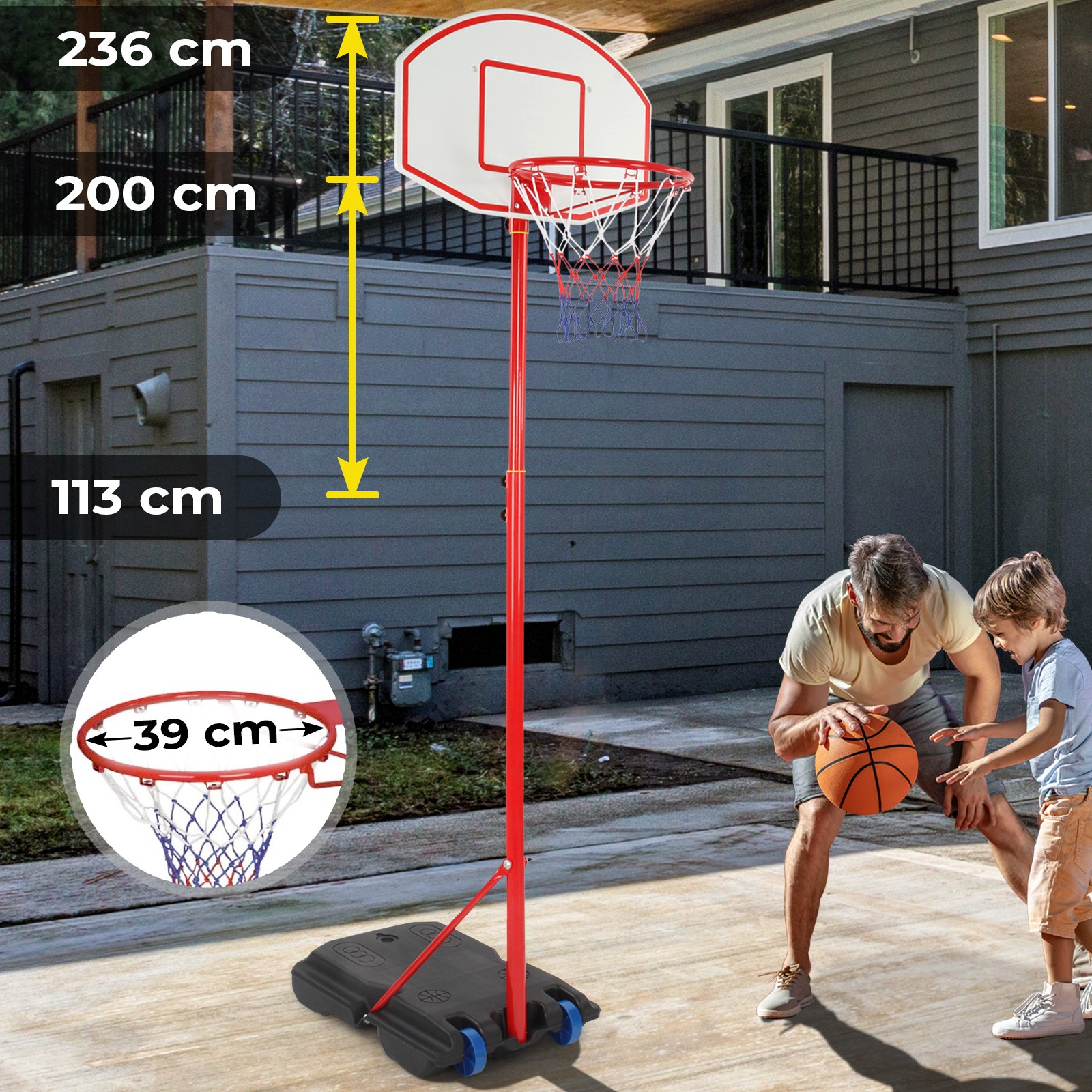 basketball korb höhe