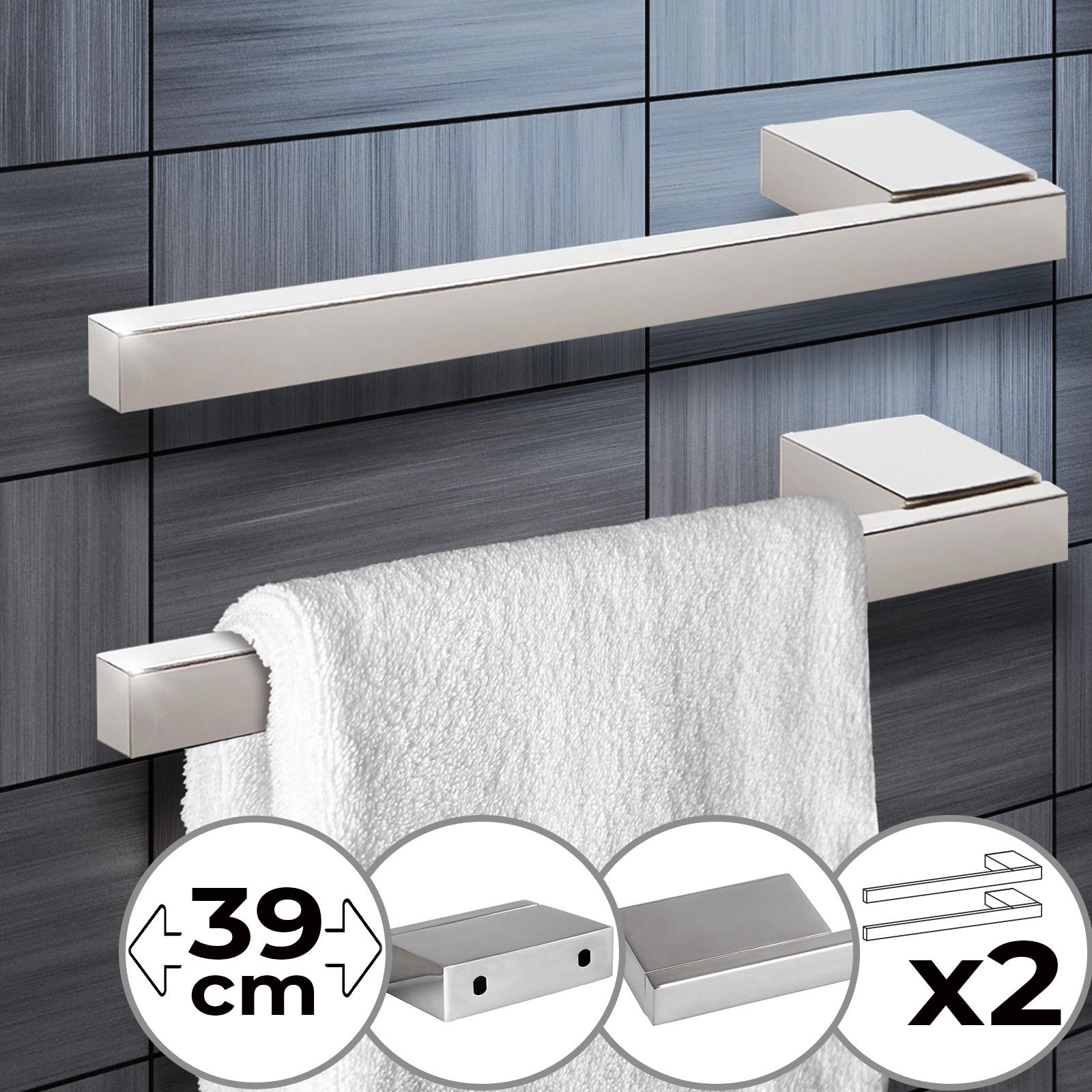 k/üche Packung mit 6, inkl. Schrauben Wandhaken edelstahl haken f/ür badezimmer b/üro und anlage