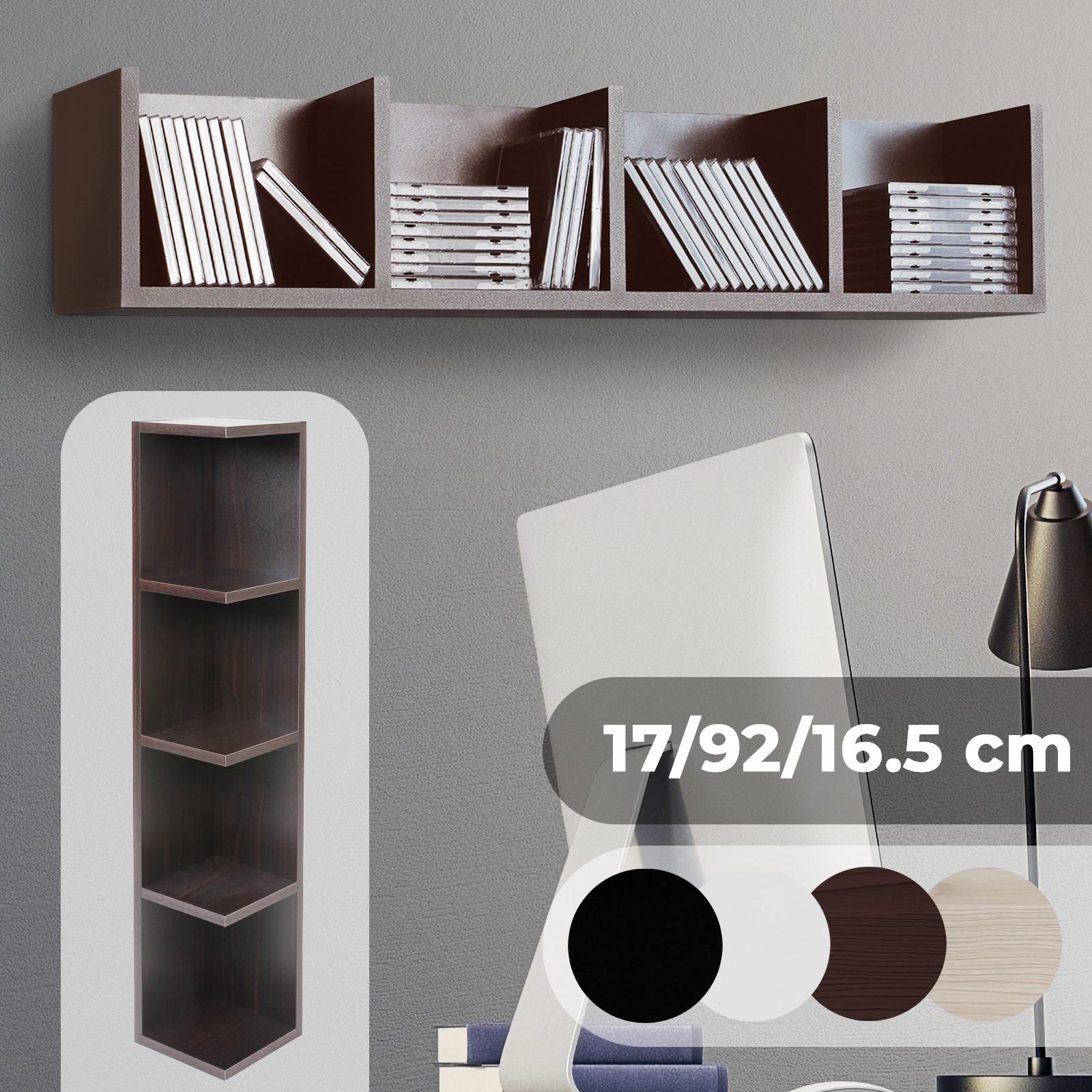 Détails Sur étagère Pour 80 Cds Bois Murale Meuble De Rangement Bibliotheque Chambre D étude