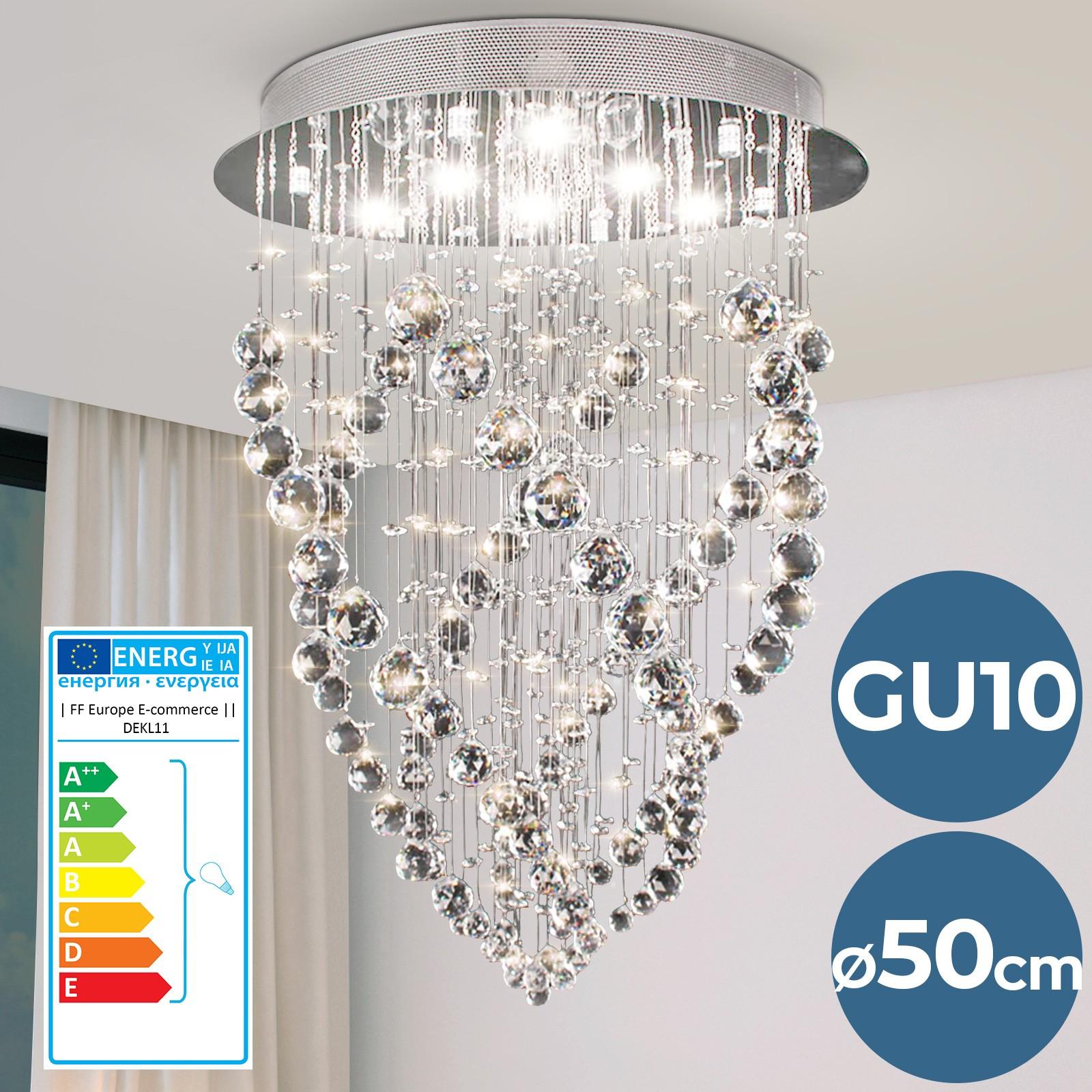 Lampadari In Camera Da Letto dettagli su lampadario di cristallo lampada da soffitto a sospensione  plafoniera soggiorno