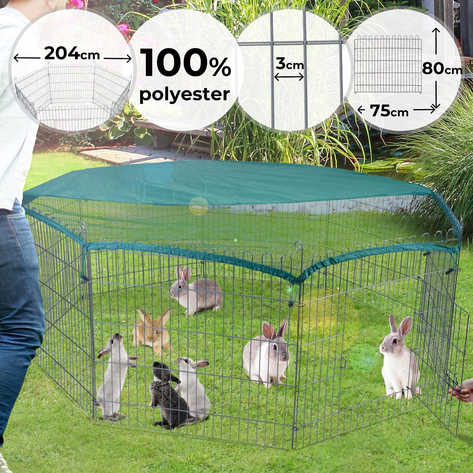 Animali Da Esterno dettagli su recinto per cani conigli animali domestici cuccioli da esterno  gabbia recinzione