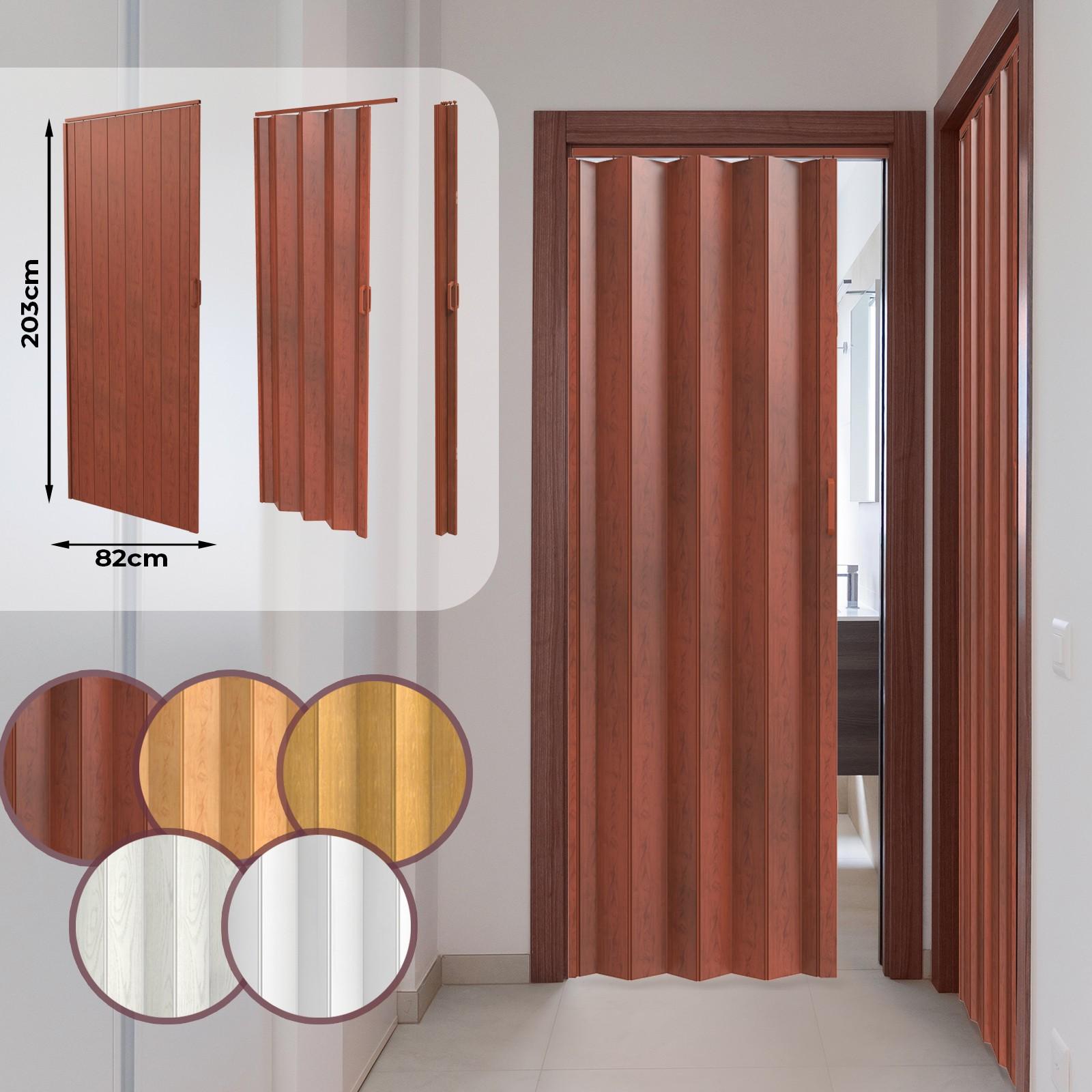 Porte De Séparation Pliante détails sur porte pliante extensible accordéon fermeture magnétique en pvc  couleurs au choix