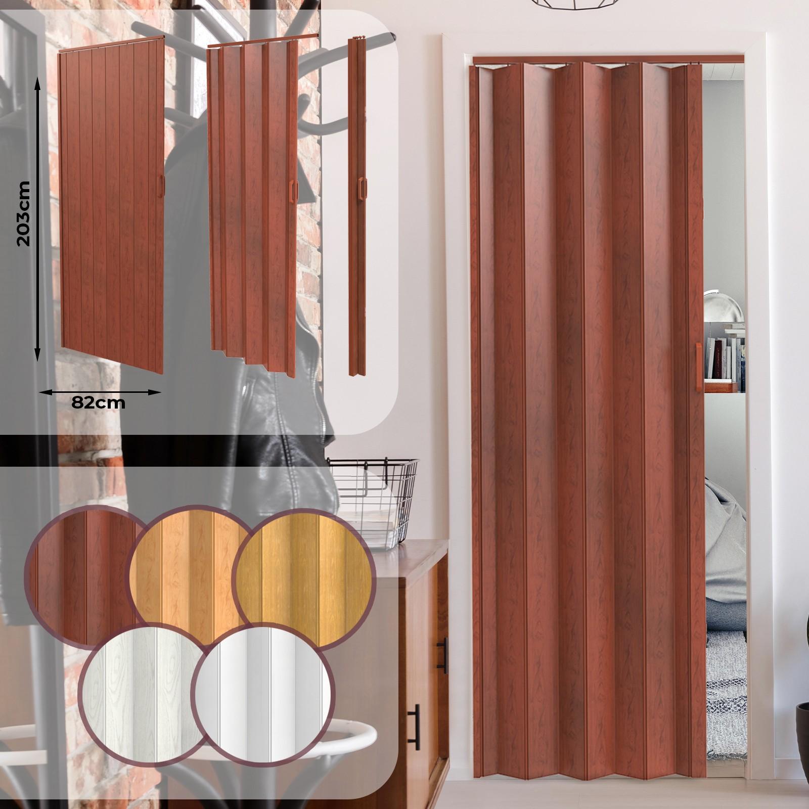 Porte De Séparation Pliante fermeture magnétique double paroi 203 x 82 x 0.6 cm couleurs