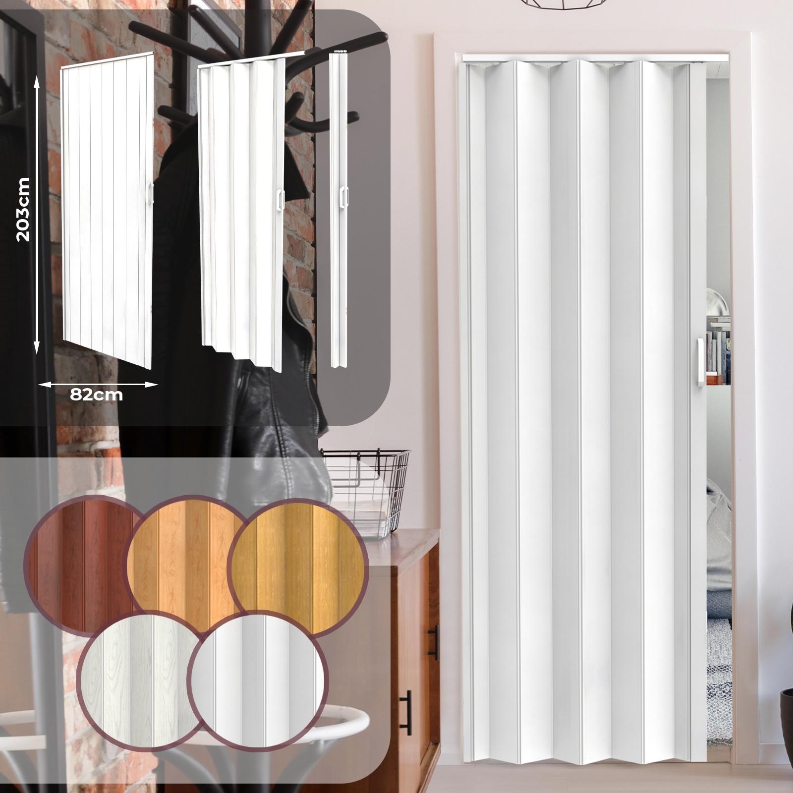 Porta A Soffietto Bianca ca porta pieghevole in pvc 203 x 82 cm bianca jago diversi