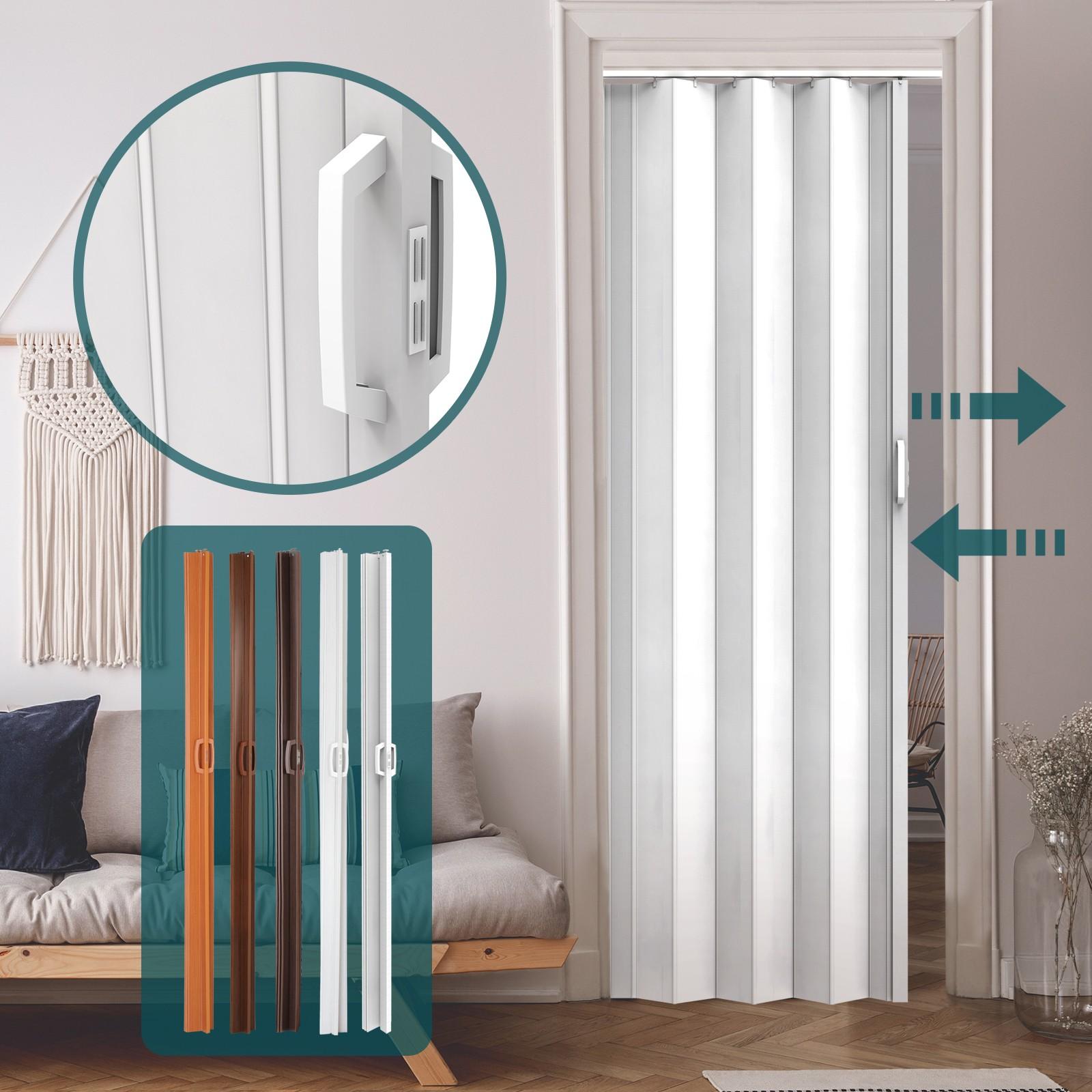 Porte De Séparation Pliante détails sur porte accordéon placard extensible plastique pvc porte pliante  paroi escamotable