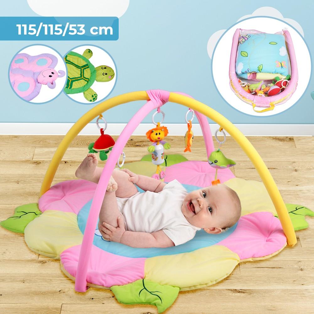 Tapis D Éveil Sac A Jouets détails sur tapis d'Éveil bébé enfant tapis de jeu avec arches jouet  d'activité