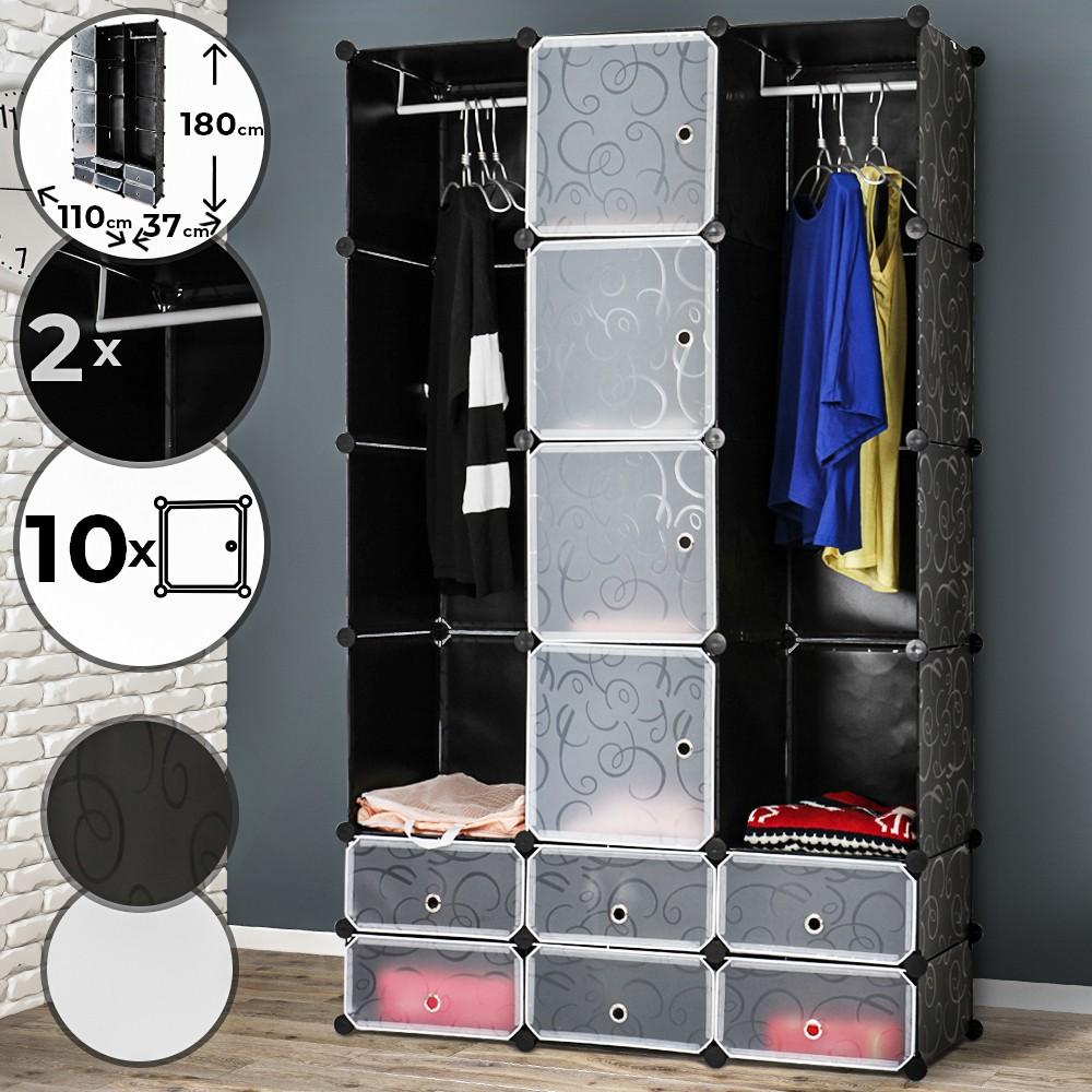 WENKO Kleiderschrank 2 in1 Breeze Garderobenschrank 50x75x166cm unbenutzte BWare