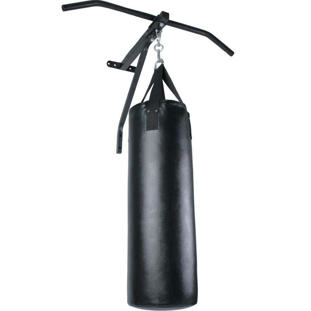 Sac de Frappe 19 kg avec Barre de Traction Murale Chin Up Exercice Boxe Fitness