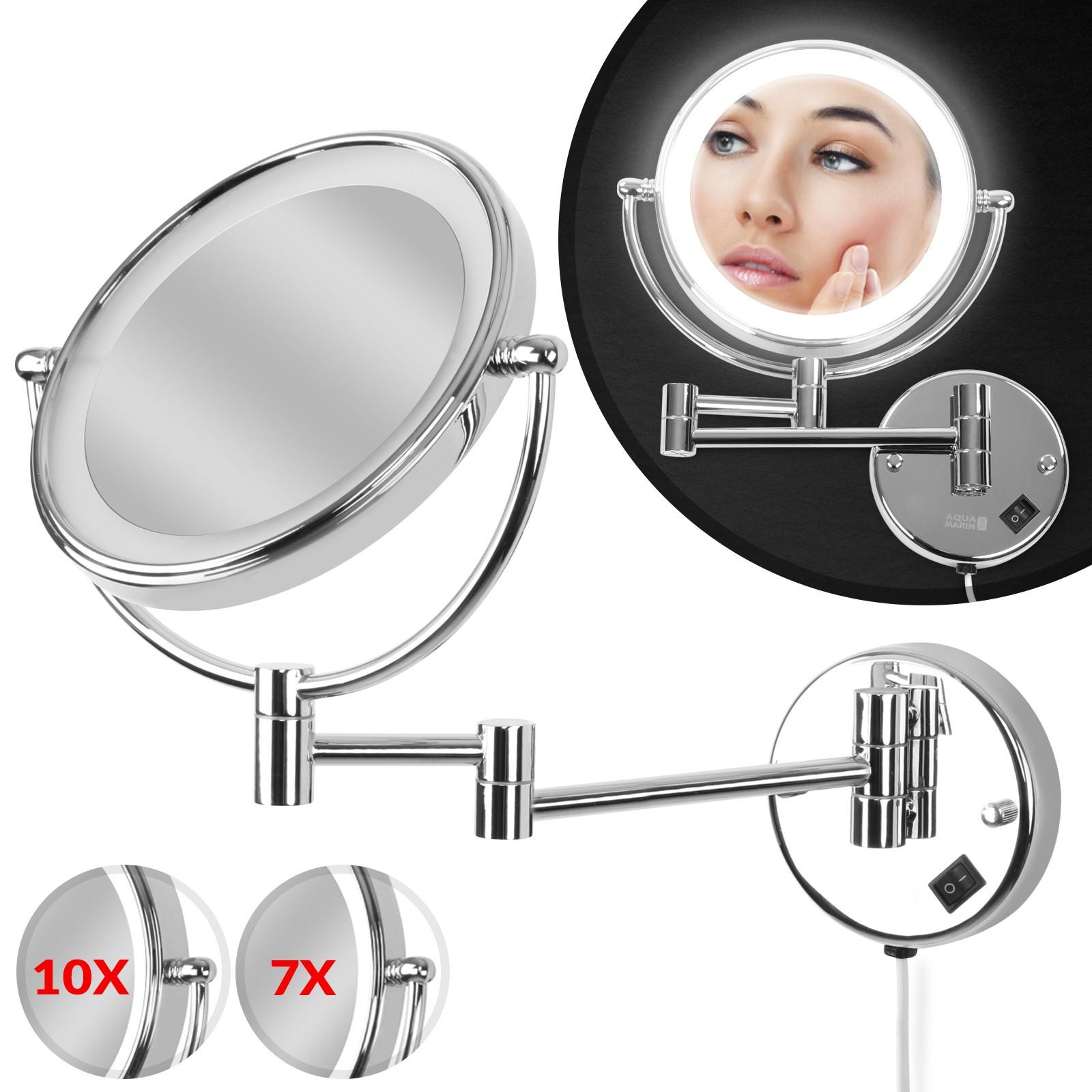 Kosmetikspiegel 7 Fach : kosmetikspiegel wandmontage 7 10 fach zoom led beleuchtung schwenkbar gelenkarm ebay ~ Avissmed.com Haus und Dekorationen