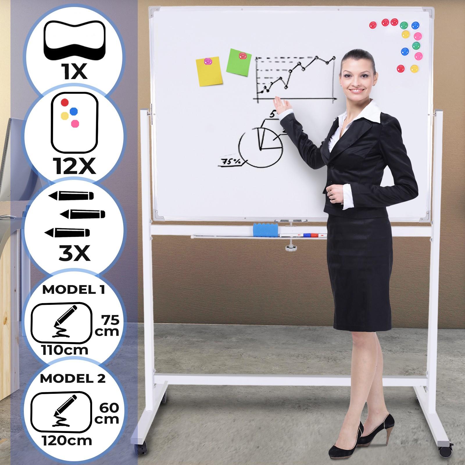 Magnettafel Whiteboard Magnetisches Marker Präsentationstafel für Schule Büro DE