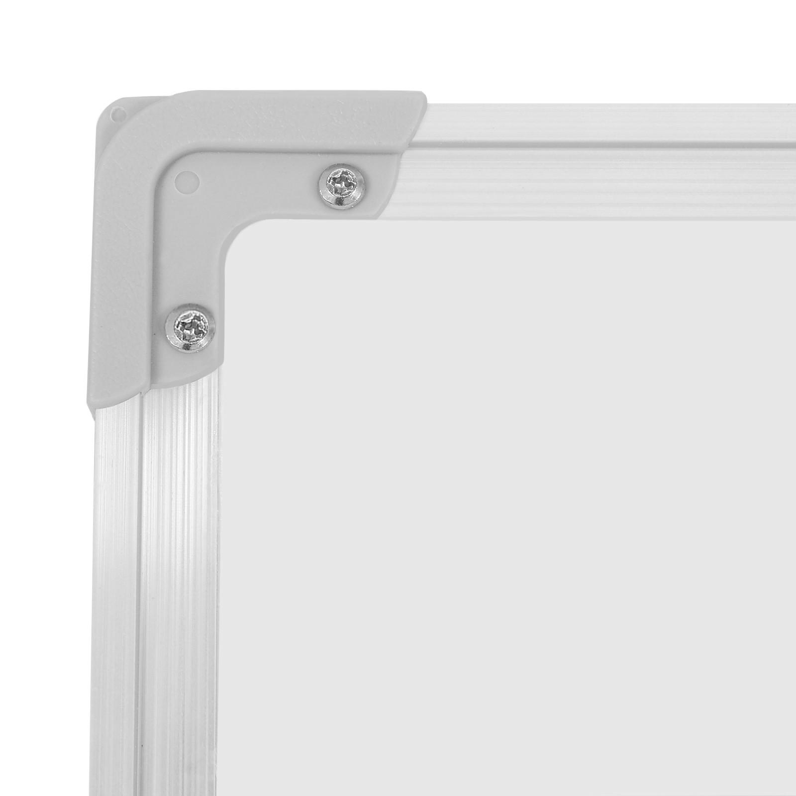 Wei/ß drehrbar Magnetwand Magnetboard rollbar Gr/ö/ßenwahl Magnettafel Stiftablage 110x75 cm Marker Whiteboard magnetisch beschreibbar Schwamm Set inkl Stativdrehtafel Alurahmen mobil