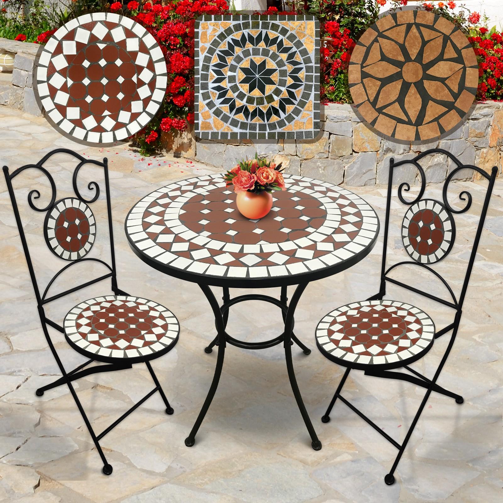 Mosaik Gartenmöbel Set : mosaik gartenm bel set tisch 2 st hle garten balkon ~ Watch28wear.com Haus und Dekorationen