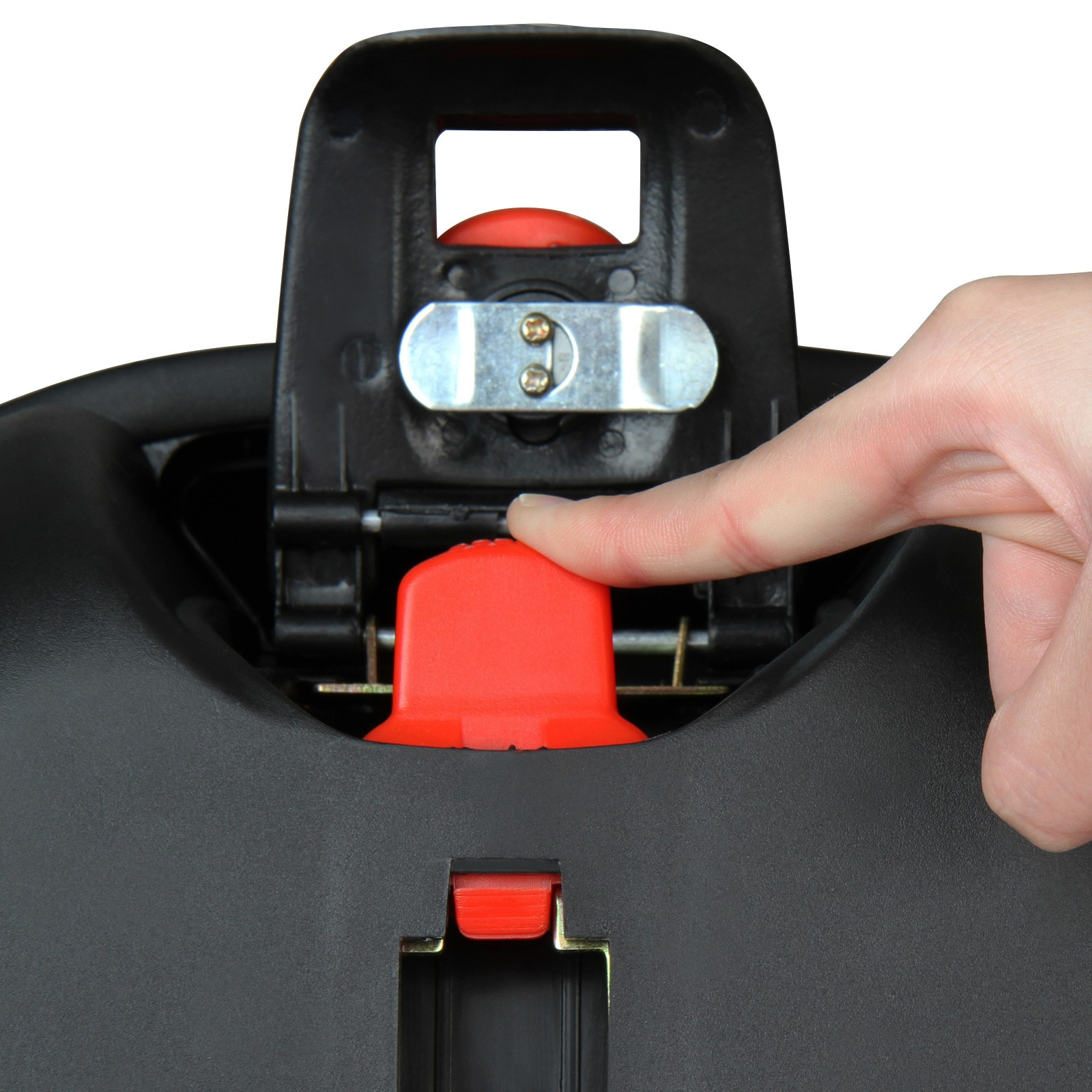 Topcase Roller Motorradzubeh/ör Top Box f/ür Helm Volumen 18 Liter Abnehmbarer TopCase Motorradkoffer Helmkoffer Bordeaux