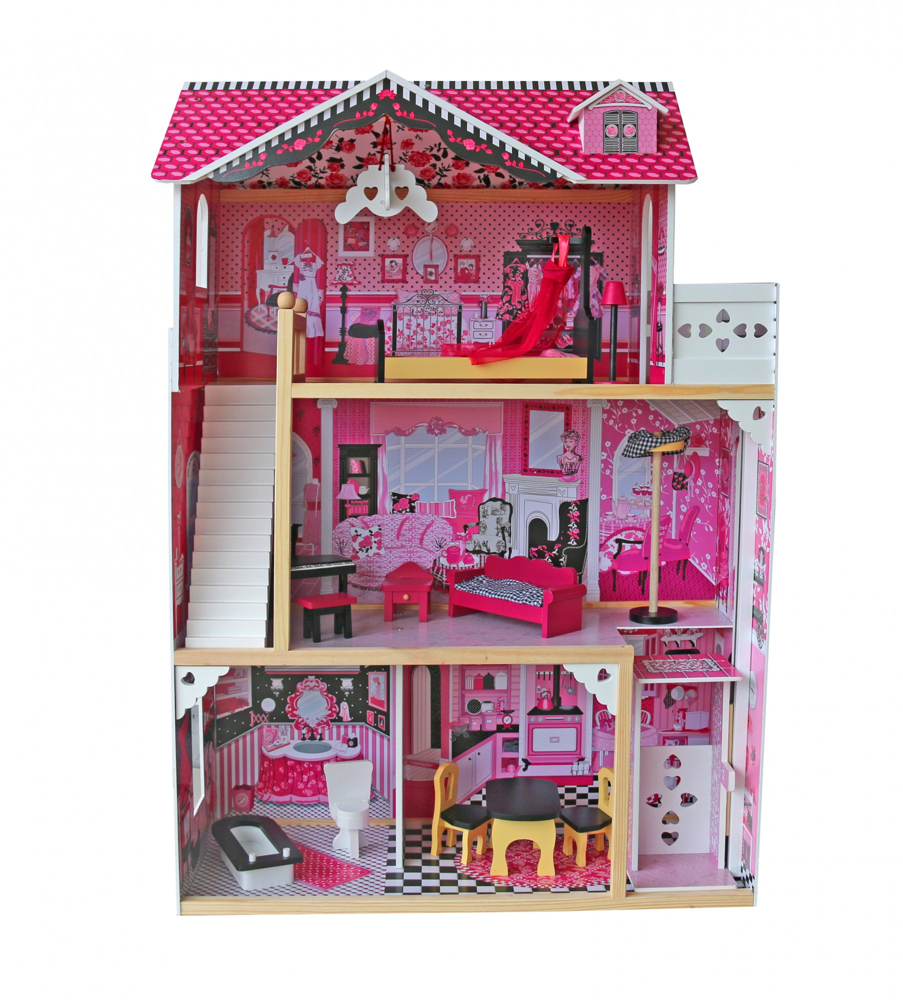 casa barbie legno
