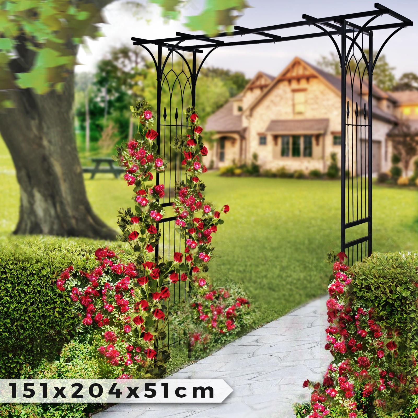 Piante Rampicanti Da Esterno dettagli su arco per rose fiori supporto per piante rampicanti decorativo  arredo da giardino