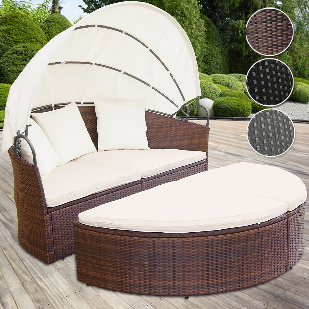 Salotto da giardino poltrone divano rattan lettino for Poltrone da terrazzo