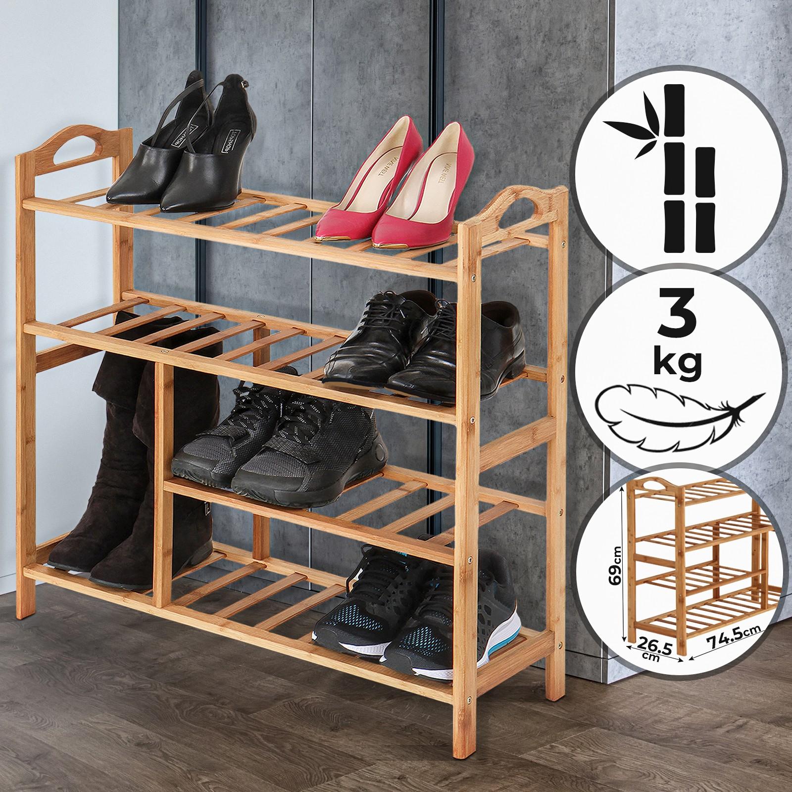 Meuble Chaussure Pour Placard détails sur Étagère chaussures bambou organisateur Étagère de rangement  armoire meuble