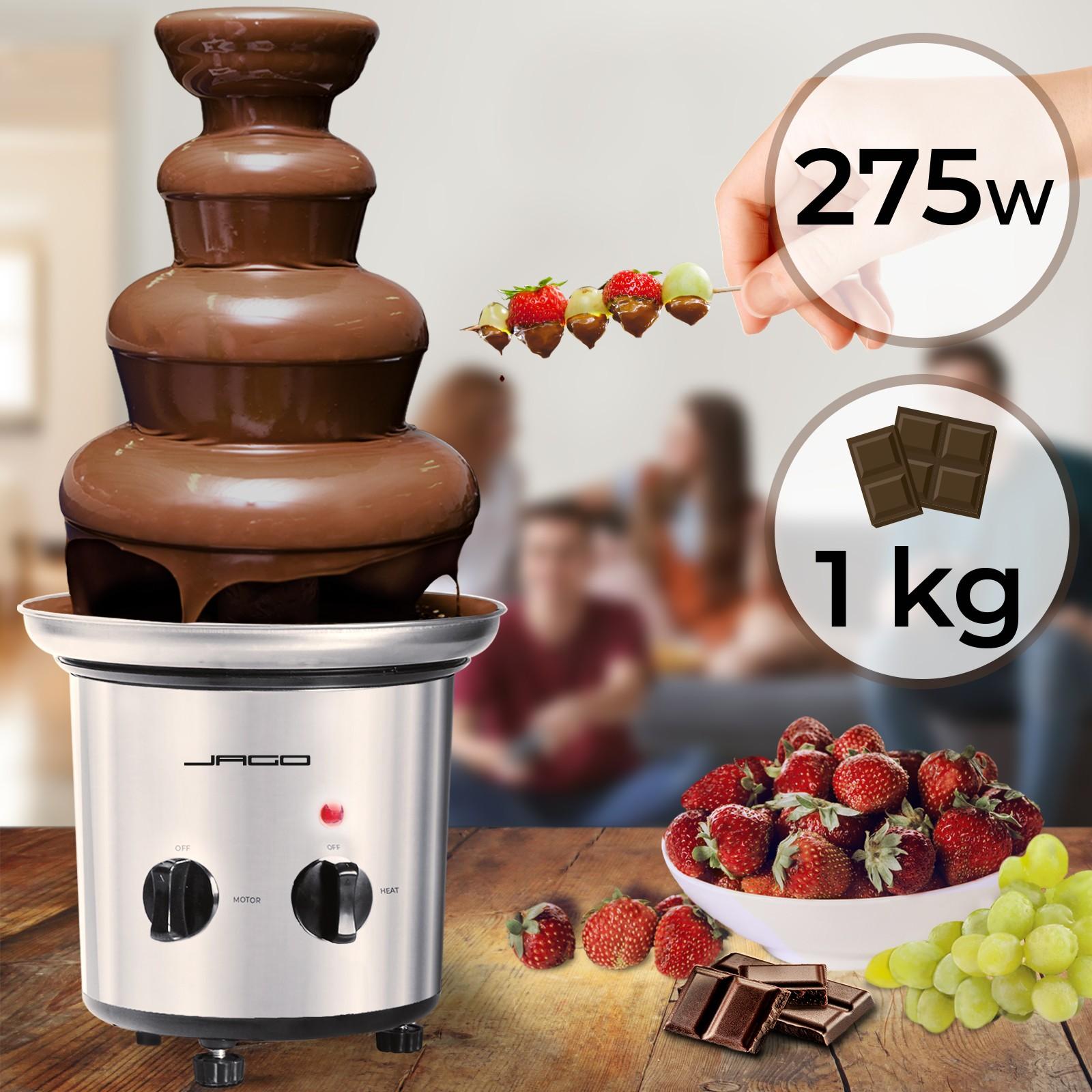 Fontaine à chocolat en Inox  35 cm Dessert Fruits Chocolatière   Puissante 85 W