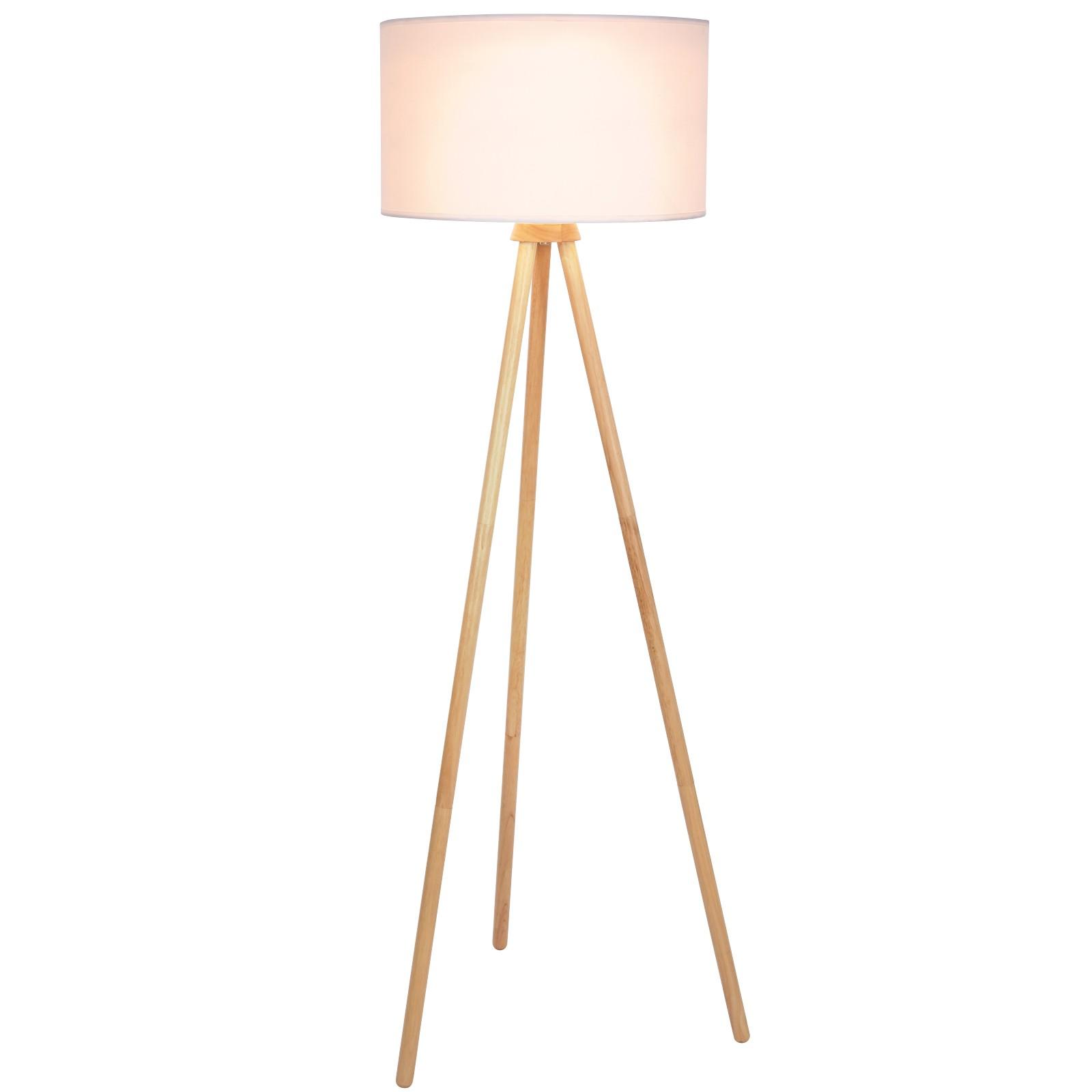 Stehlampe Holz Dreibein