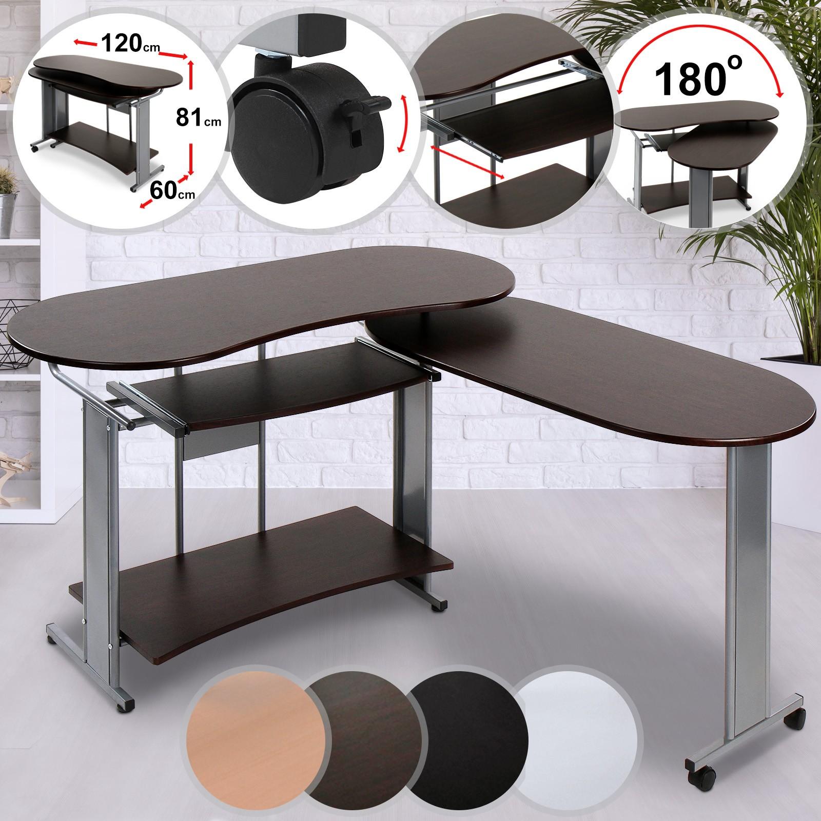 Germania Eckschreibtisch Nussbaum Schreibtisch Ecke Büro Computer Tisch