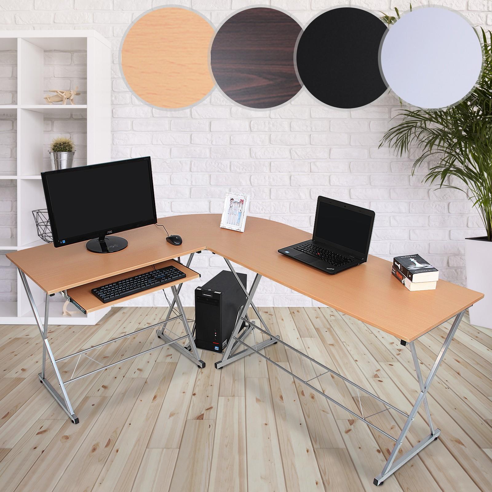 ... SPACIEUX: Le Bureau Du0027angle Dispose De 2 Tables De Travail Offrant  Suffisamment Du0027espace Et Les Dimensions Sont 170x136x75cm