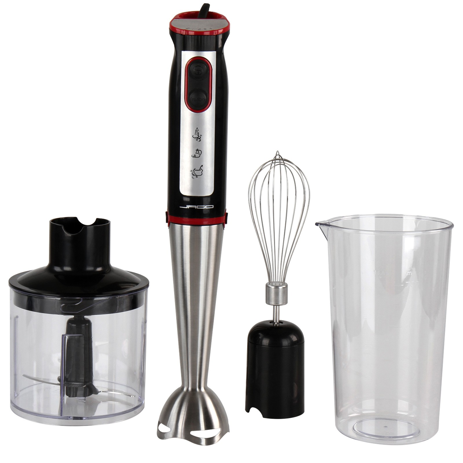 3 in 1 stabmixer set 700w zerkleinerer edelstahl schneebesen p rierstab shake ebay. Black Bedroom Furniture Sets. Home Design Ideas