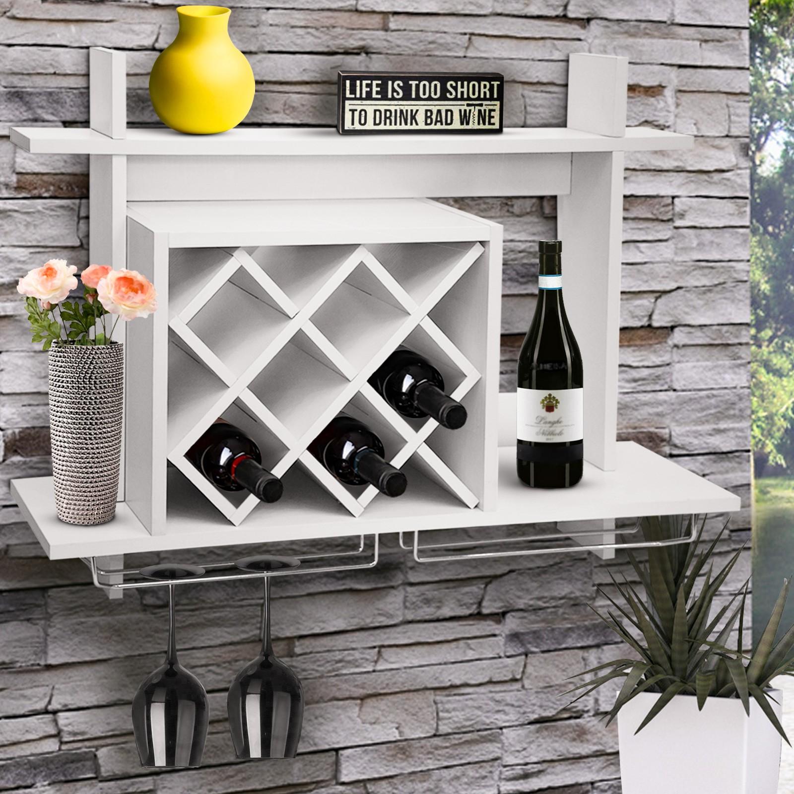 Support A Bouteille De Vin Mural détails sur Étagère cave à vin rack murale support casier porte range  bouteilles porte-verre