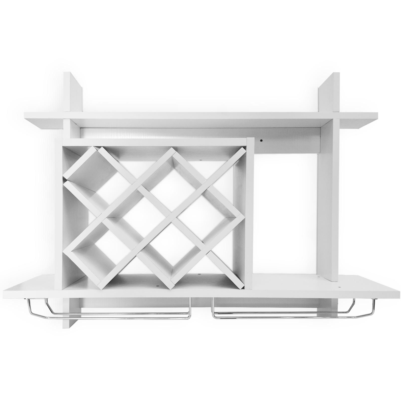 Taille au Choix Jago Support Mural Barre de Cr/édence 117 cm Rangement Accessoires de Cuisine