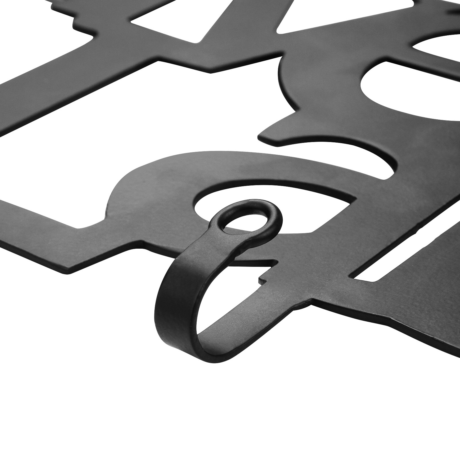 wandgarderobe flurgarderobe metall 6 haken im live love laugh design ebay. Black Bedroom Furniture Sets. Home Design Ideas