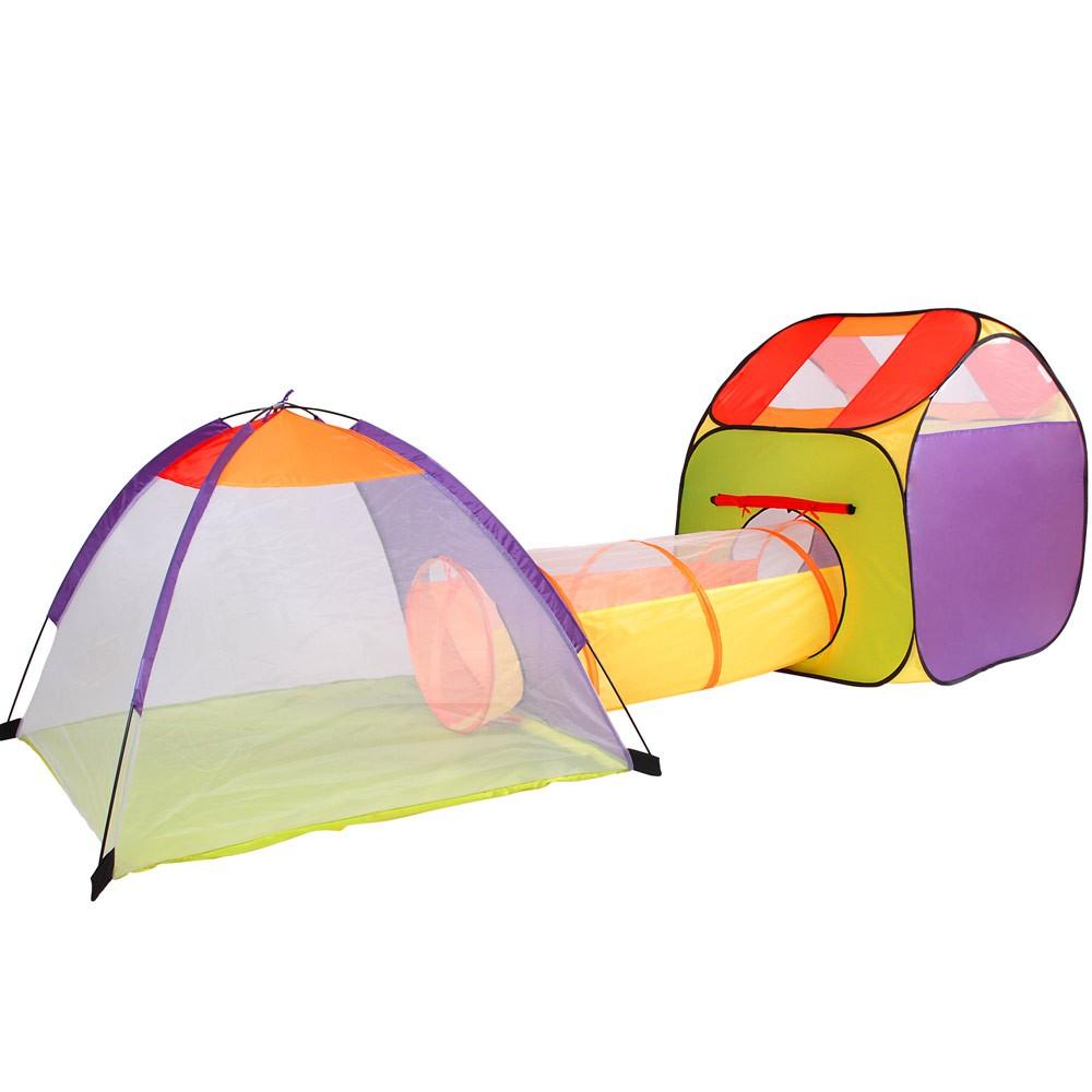 kinderzelt mit 100 und 200 b llen mit tunnel kinderspielzeltin pop up spielhaus ebay. Black Bedroom Furniture Sets. Home Design Ideas
